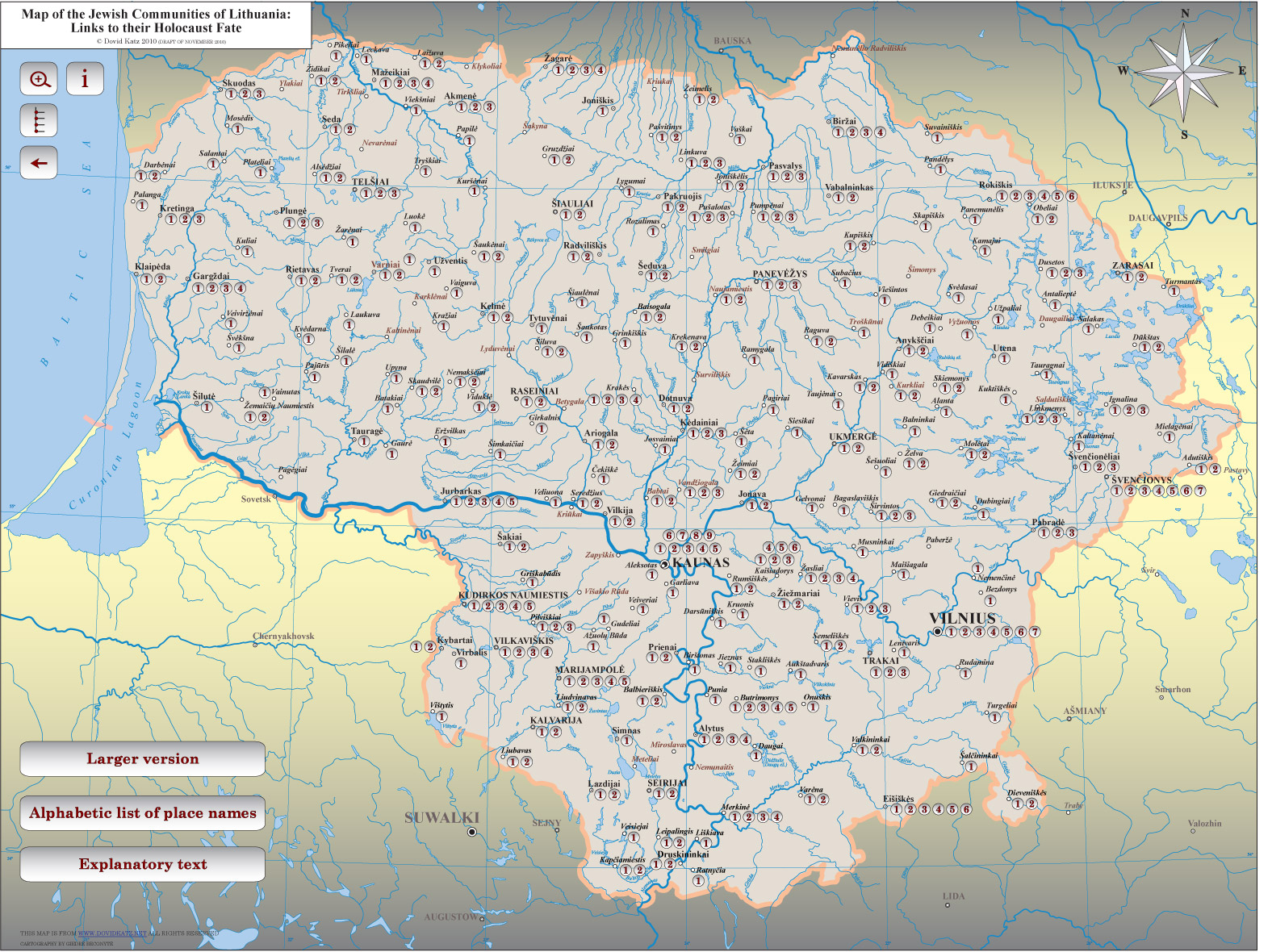 Holocaust Map of Lithuania